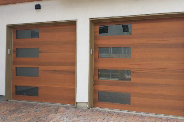 wood vs faux wood garage doors