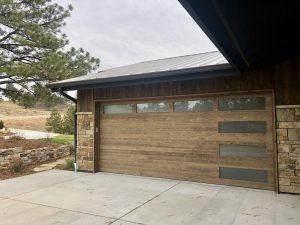 wood vs faux wood garage door
