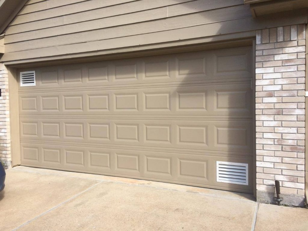 Garage door vents by windeevent american garage door and for Door ventilation design